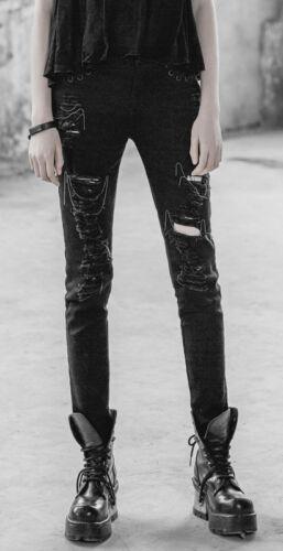 Jeans Destroy Pantalon D Punk Fashion Gothique vzBwx1v4q