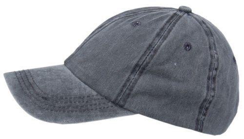 Cool 4 Stonewashed Jeans gris foncé anthracite 6-Panel Basecap Baseball Cap sbc05
