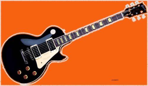 GIbson guitar  digital retro art PRINT 8x10 JSCHMETZ modern