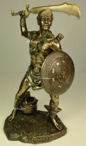 ORISHA-OGGUN-God-of-War-Ogun-Yoruba-African-Statue-Sculpture-Bronze-Finish