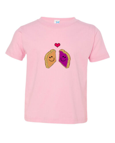 Peanut Butter And Jelly Toasts In Love Toddler Baby Kid T-shirt Tee 6mo Thru 7t