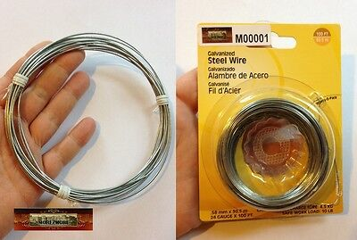 M00600 MOREZMORE Armature Wire Steel 18 GA Sculpting Doll Puppet Figure A60