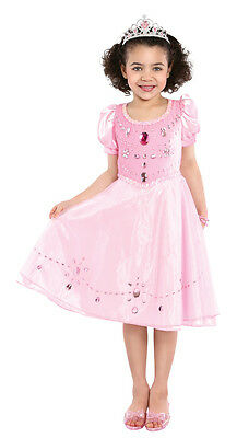 Pink Gem Princess Jewel Ball Gown Fantasy Cute Dress Up Halloween Child Costume