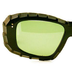 Sunglasses Frames For Thick Lenses : Vintage Womens Thick Black Eyeglasses w/ Green Lenses ...