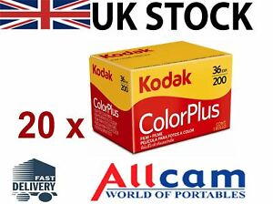 20-Pack-Kodak-Colorplus-200-35mm-24-exposiciones-Color-Pelicula-de-negativo