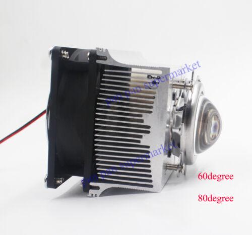 100W LED COB Aluminium Heat Sink Cooling Fan+60°90°120°44mm Lens+Reflector Brack