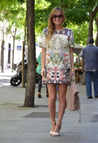CELEB STYLE Womens Ladies Tropical Floral Dress Size 6 8 10 12 14 16