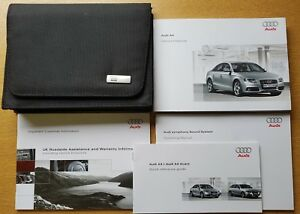 GENUINE AUDI A4 SALOON HANDBOOK OWNERS MANUAL WALLET 2007-2011 PACK E-292