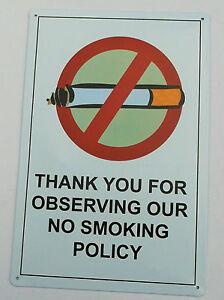 1-x-RETRO-NO-SMOKING-METAL-TIN-SIGNS-vintage-cafe-pub-bar-garage-decor