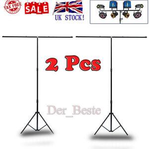 2x-3M-T-bar-Lighting-Heavy-Duty-Photo-Studio-Light-Stand-DJ-Disco-T-Bar-Stand
