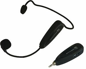 2 4ghz kabelloses headset mikrofon freisprechanlage. Black Bedroom Furniture Sets. Home Design Ideas