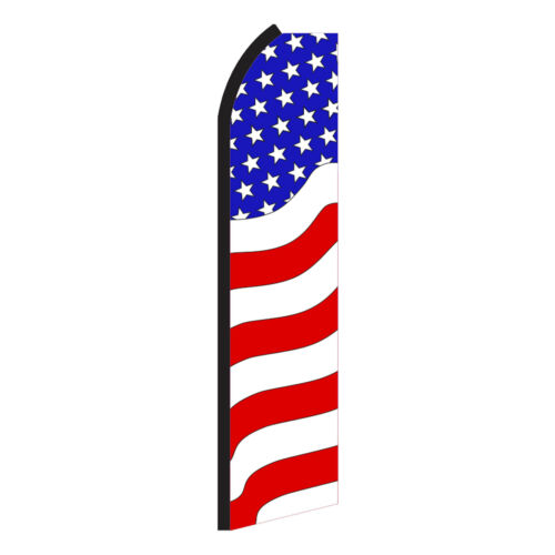 USA WAVY Advertising Flutter Feather Sign Swooper Banner Flag Only