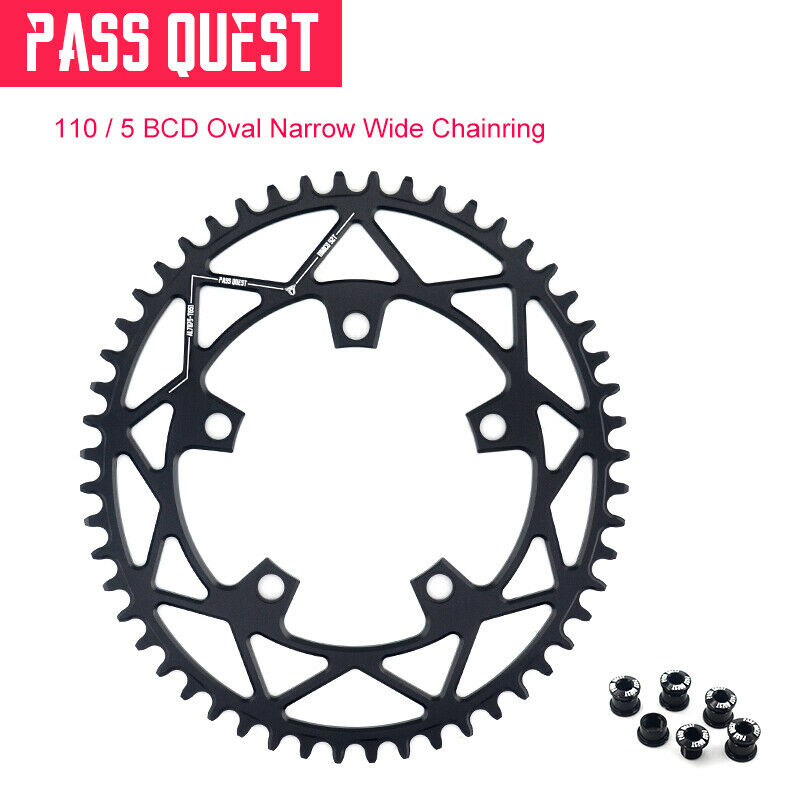 110 BCD 5 claw Oval strada Bike Narrow Wide Chainring For 3550 APEX rosso 42T52T