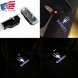2X LED Door Light For MASERATI Quattroporte Ghibli Car Projector Logo Ghost Lamp
