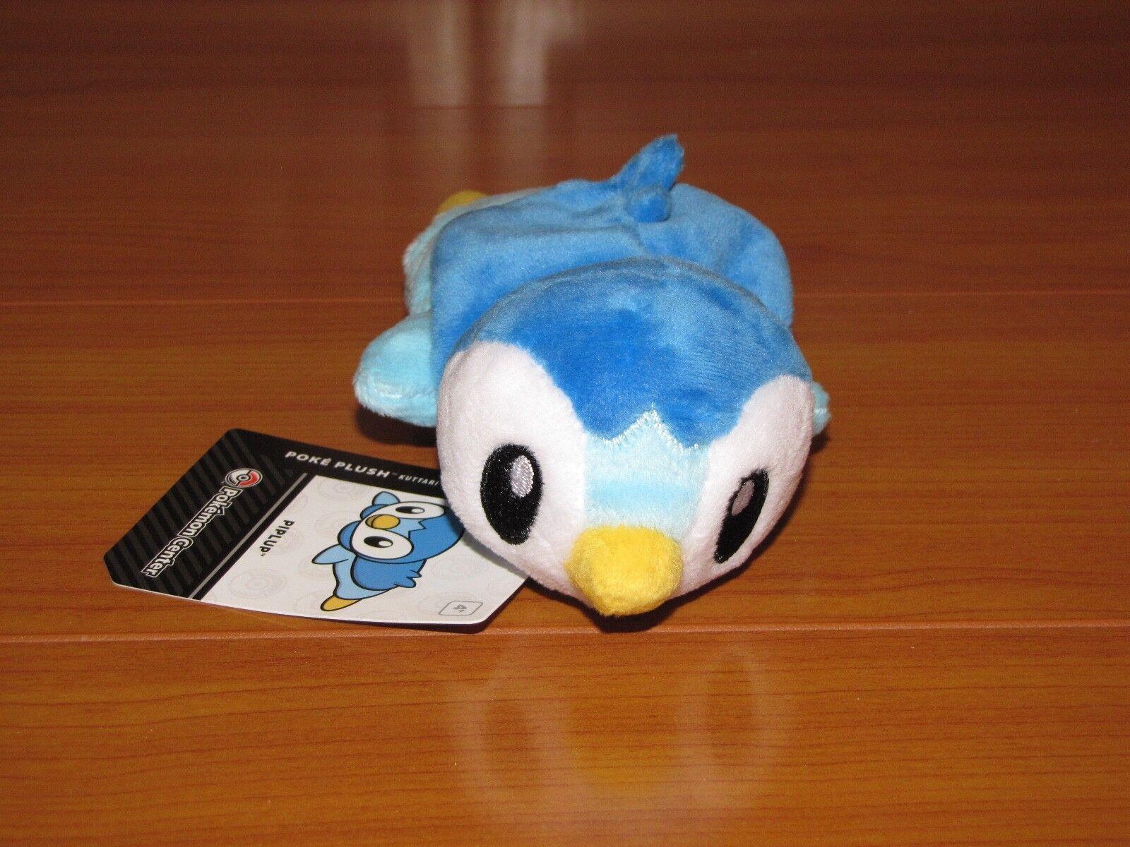 Awake PIPLUP Penguin Pokemon Center Poke Poke Poke Plush Kuttari Cutie bean bag doll NEW 04e53d