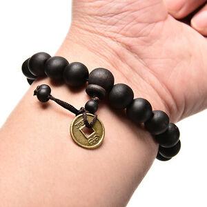 Holz-Buddha-Buddhistische-Gebet-Perlen-Tibet-Armband-Mala-Armreif-Ornament-XJ