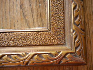 "Art Nouveau Ornate Antique Picture Frame Gold Gilt Fine art fits apx 13""x10"""