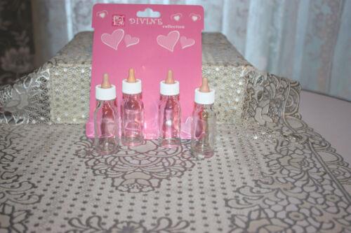GLASS Baby Bottles Old Fashioned Style w//Formula Recipes  Reborn Dolls U Get 8!