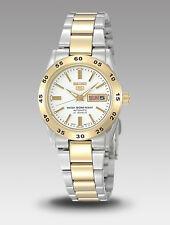 Seiko 5 Ladies SYMG42K1 Two Toned Stainless White Dial Automatic Watch