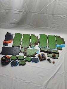 18 x Mega Bloks Terrain Base Plate Lot Dragons Castle Rock Stone Land halo cod
