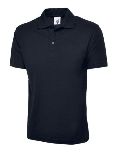 Unisex Mens Classic Poloshirt Plain Short Sleeve Work Top T-Shirt Polo shirt Tee