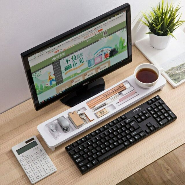 Desktop Storage Rack Computer Keyboard Organizer Keyboard Shelf Office Supplies