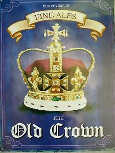 OLD-CROWN-PUBLIC-HOUSE-METAL-SIGNS-PLAQUES-FINE-ALES