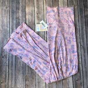 Lularoe-Maxi-Skirt-New-Long-A-Line-3X-3XL-Pink-Purple-Pastel-Geo-Geometric-Print