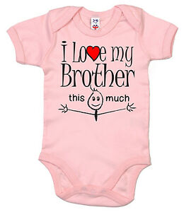 Funny Baby Bodysuit I Love My Brother Brothers Brother Sister