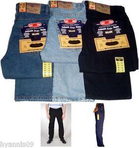 Mens Aztec jeans heavy duty work casual regular fit trousers