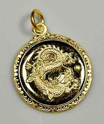 Chinese Dragon Zodiac Pendant ARIES Gold plated sterling Silver .925 charm