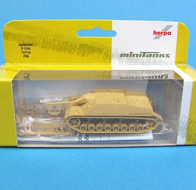 Minitanks H0 706 Jagd-Panzer IV EDW WWII Wehrmacht HO 1:87 4 Roco Herpa 740746