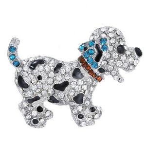 BROOCH-Cute-Black-Dog-Vintage-Style-Rhinestone-Pin-on-Brooch-Mothers-Day-Gift