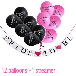 Happy-Bachelorette-Party-Balloons-Banners-amp-Decorations-W-Words-034-Bride-to-Be-034