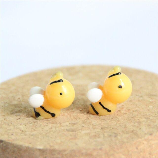 10pcs/set Lovely Miniature Micro Landscape Resin Honey Bee DIY Gardening Decor