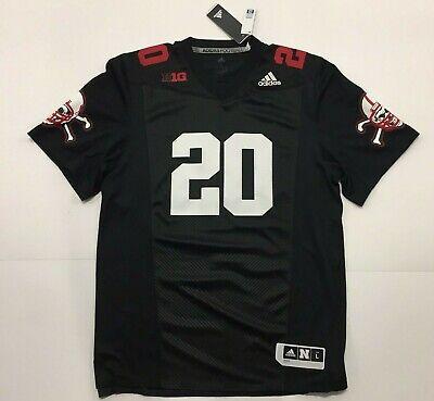 Adidas Nebraska Cornhuskers #20 Black Premier Football Jersey sz Large NWT   eBay