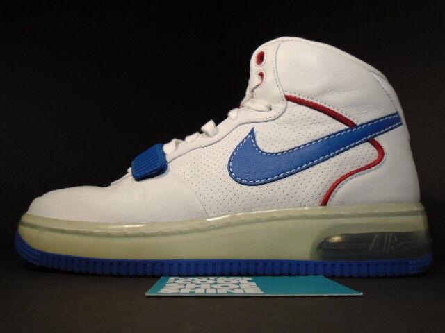 Nike air force 1 mitte 2007 oberster max cb cb cb 34 barkley alpha weiß - rot - blauen sz 7.5 38eb2b