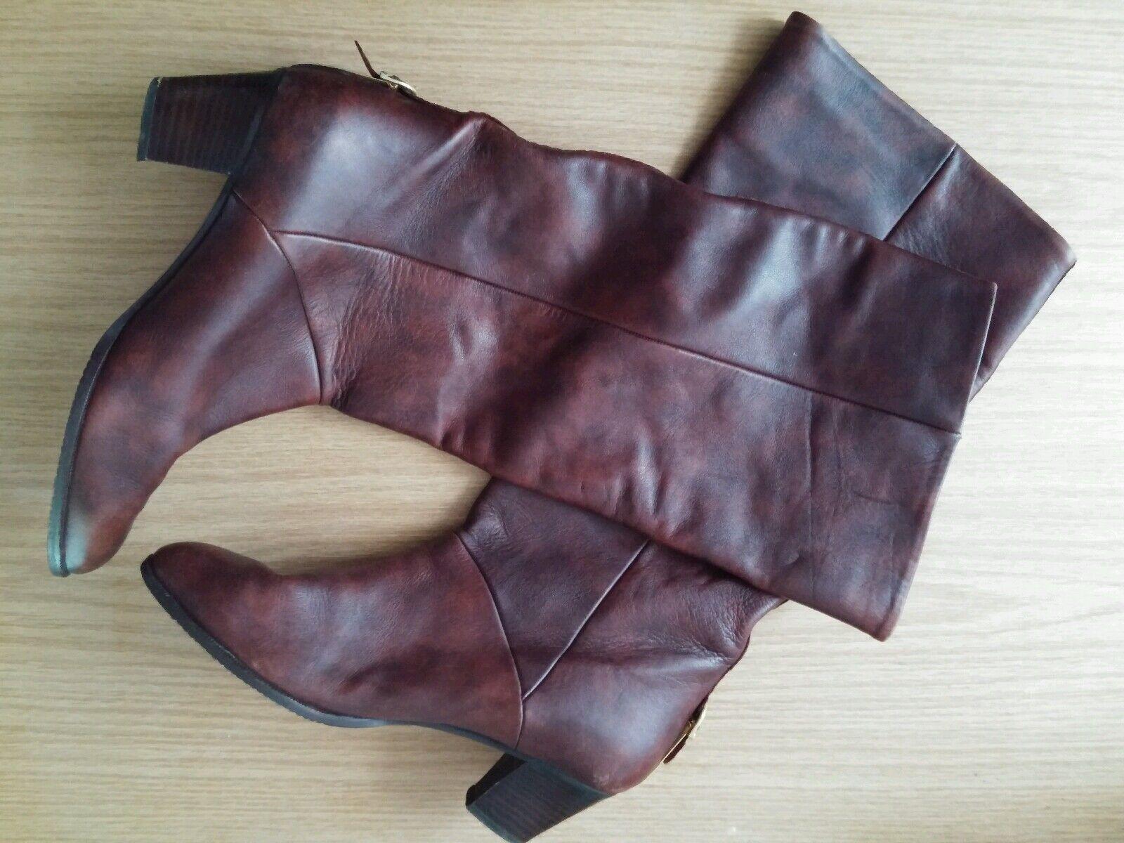 Damen Schuhe Stiefel Pumps WALTER KÄFER Gr Vintage 39 rost braun Leder Vintage Gr Boho Top 7e2793