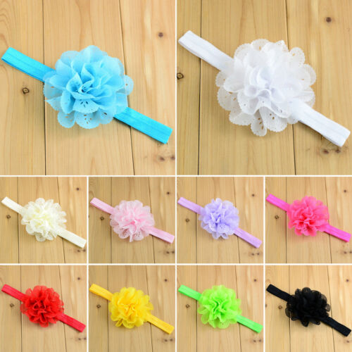 Kids Girls Elastic Headband Headdress Bow Knot Bunny Ribbon Headwear Hair Band
