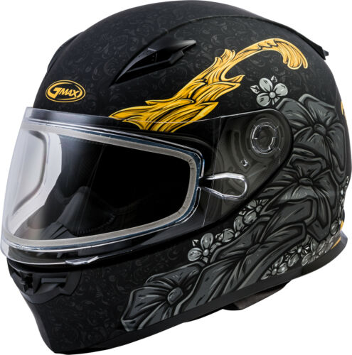 GMAX FF-49S Full-Face Yarrow Snow Helmet Sm Matte Black//Gold G2494024