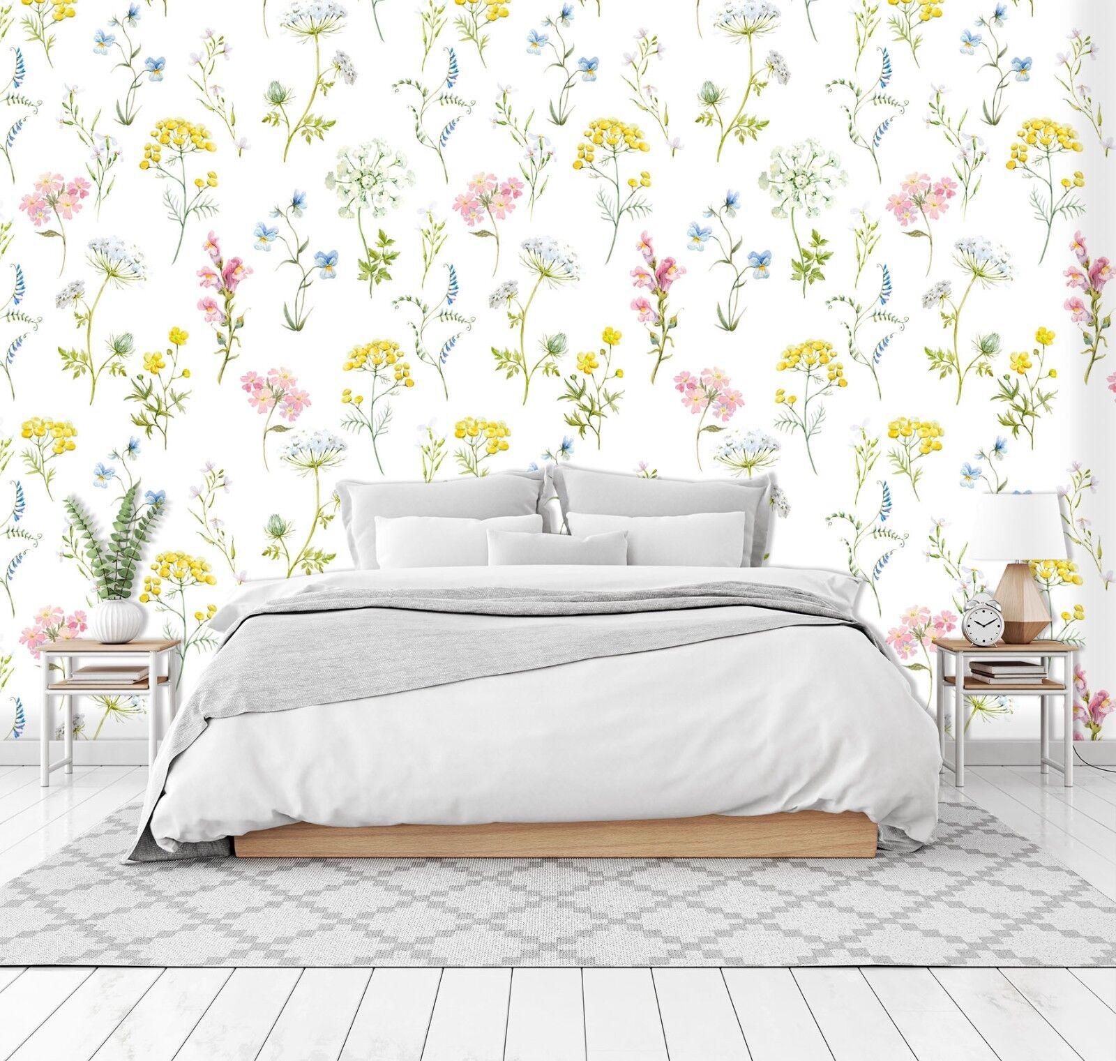 3D Farbe Flowers Art 783 Wallpaper Mural Paper Wall Print Murals UK Summer