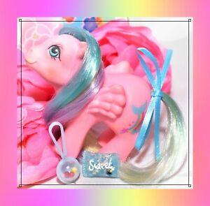 My-Little-Pony-MLP-G1-VTG-1984-BABY-Rainbow-Ponies-Brightbow-Pink-Pegasus