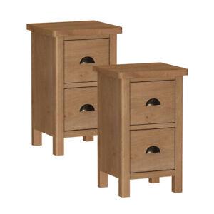 Ascot-Waxed-Set-of-2-Oak-Narrow-Bedside-Table-Fully-Assembled
