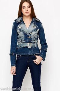 Giacca-Jeans-Giubbotto-Donna-MISS-SOFTY-D463-Giubbino-Blu-Tg-S-M