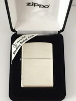 Armor Sterling Silver Zippo Lighter With Brushed Finish, 27, In Box