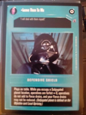 Near Mint REFLECTIONS III star wars ccg swccg Leave Them To Me