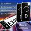 2x-Kennzeichen-Aufkleber-Schwarz-Nummernschild-EU-Feld-Blau-D-Sticker-Set-Tuning Indexbild 1