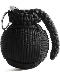 Black Emergency Paracord Grenade Survival Kit - 44 Life Saving Items Inside