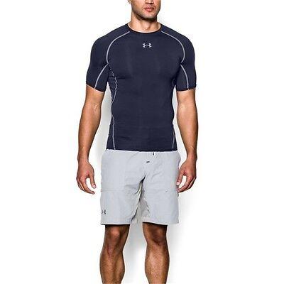 Under Armour Men's UA Heatgear ARMOUR Compression BLACK T Shirt 1257468 NEW