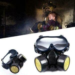 Neu Atemschutzmaske Gasmaske Vollmaske ABC Maske Schutzmaske mit Schutzbrille DE